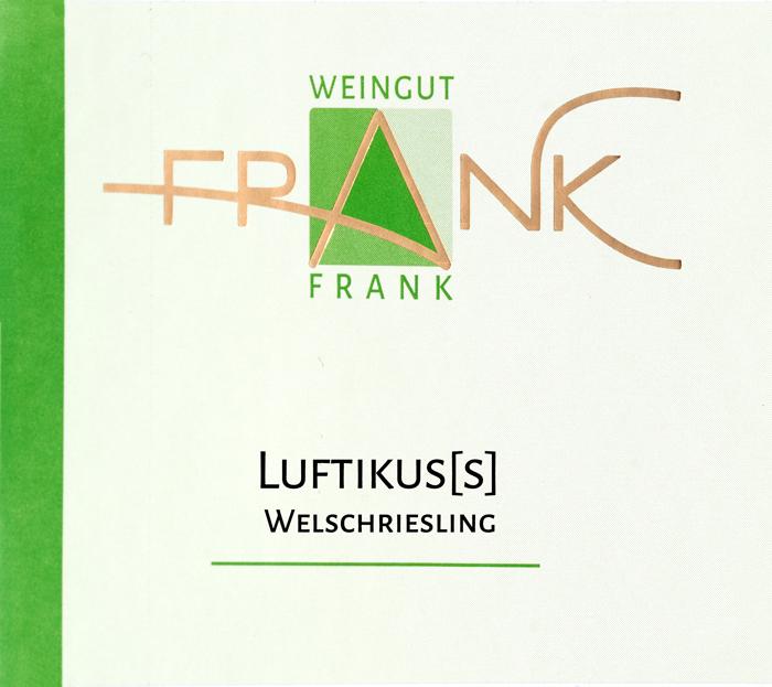 Etikette Luftikuss Welschriesling Weingut Frank