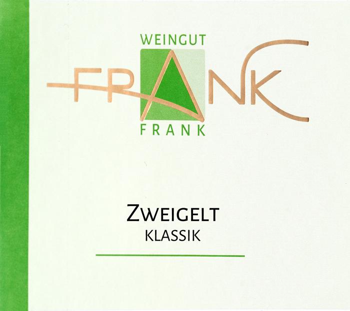 Etikette Zweigelt Klassik Weingut Frank